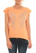 Vero Moda Top Binti Stud S/S EX5 Orange