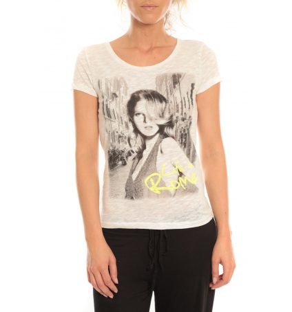Vero Moda T-Shirt Rome Vlatka S/S EX5 Snow White/W.Safety