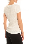 Vero Moda T-Shirt Rome Vlatka S/S EX5 Snow White/W.Safety Blanc/ Jaune