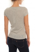 Vero Moda T-Shirt Rome Vlatka S/S EX5 Light Grey Mela/W Fiery Gris/ orange