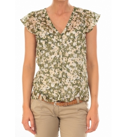 Vero Moda Chemisier AGNES S/S Shirt Mix Kombu Green