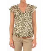 Vero Moda Chemisier AGNES S/S Shirt Mix Kombu Green