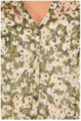 Chemisier AGNES S/S Shirt Mix Kombu Green