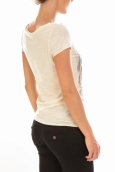 TOP JESSICA CAP SLEEVE White Asparagus/W. Front P
