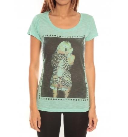 Comme des garçons T-shirt Miss Piu 1239 Vert d'eau