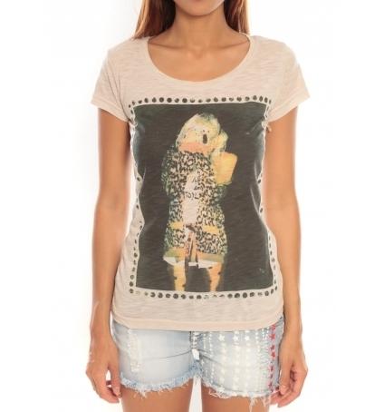 Comme des garçons T-shirt Miss Piu 1239 Beige