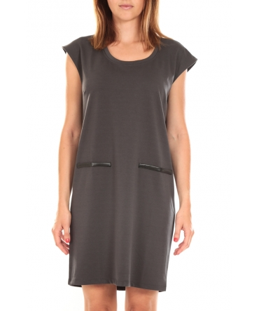 Vero Moda SHORT DRESS CELINA S/L Peacoat