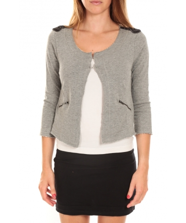 Vero Moda WILIANA 3/4 BLAZER Light Grey Mela/W Gris