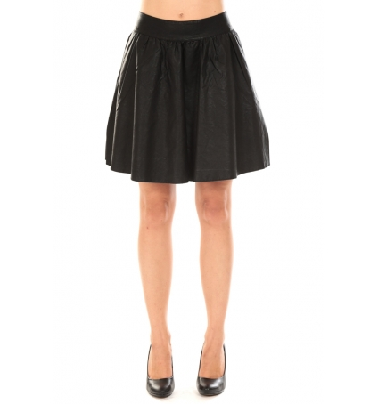 Vero Moda JANICE SHORT PU SKIRT Black