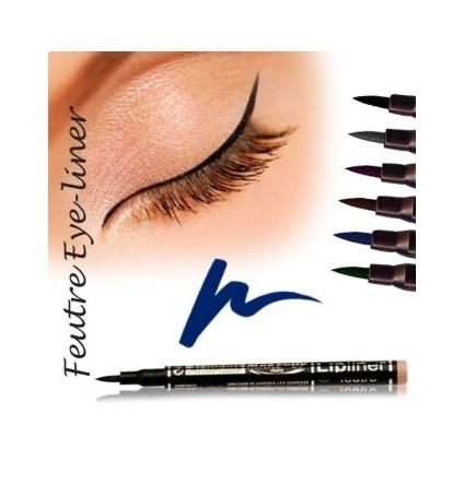 Fashion Make up Feutre eye-liner semi permanent Bleu