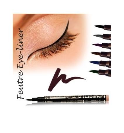 Fashion Make up Feutre eye-liner semi permanent Brun