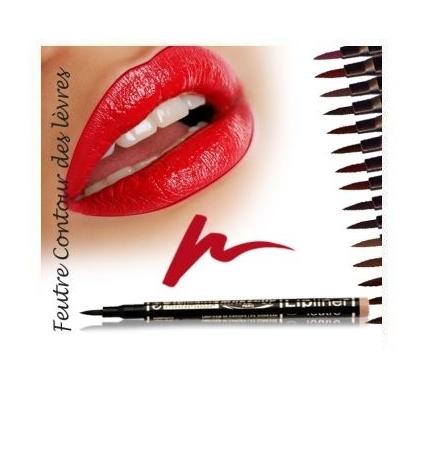 Fashion Make up Feutre contour des lèvres semi-permanent Pétale