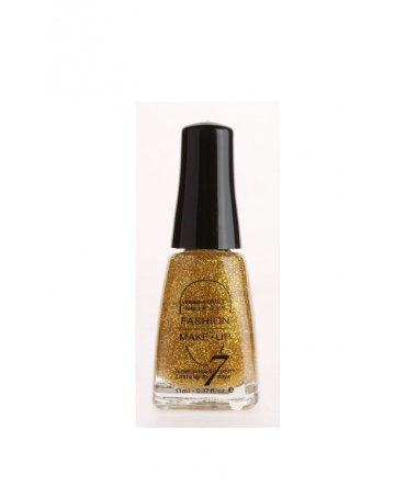 Fashion Make up Vernis Melissa pailletté Or