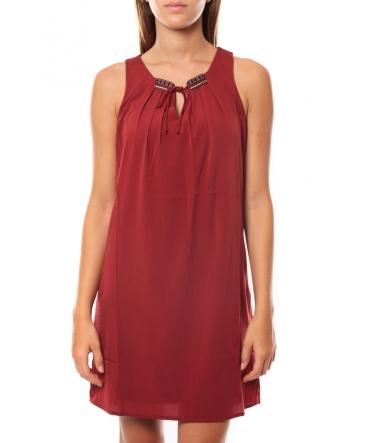 Vero Moda KRISTY S/L SHORT DRESS EX7 Rosewood