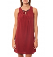 Vero Moda KRISTY S/L SHORT DRESS EX7 Rosewood