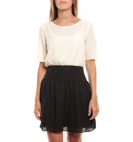 Vero Moda Minto 2/4 Short Dress 97759 Blanc/Noir