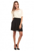 Vero Moda Minto 2/4 short dress Blanc/Noir