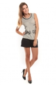 Vero Moda Lee SL Top Gris/Noir