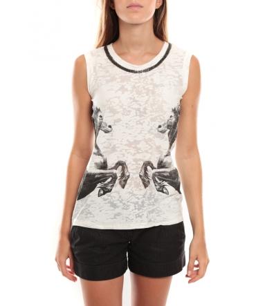Vero Moda Lee SL Top Noir/Blanc