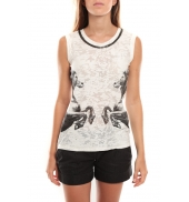 Vero Moda Lee SL Top 96913 Noir/Blanc