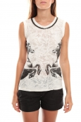 Vero Moda Lee SL Top Noir/Blanc