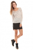 Vero Moda Starly LS Top Gris clair