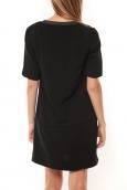 Vero Moda Selma 3/4 Short Dress Noir