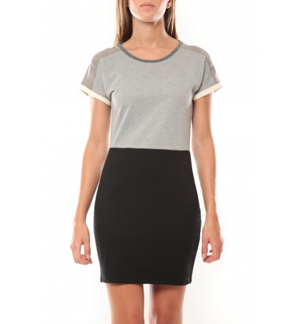 Vero Moda Bora SS Mini Dress 98259 Gris/Noir
