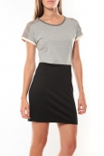Vero Moda Bora SS Mini Dress Gris/Noir