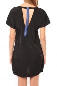 Vero Moda Reba ss mini dress 10100945 Noir/Bleu