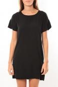 Vero Moda Reba ss mini dress 10100945 Noir/Saumon