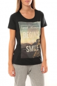 Vero Moda Grafic girl s/s Top Box it 10101116 Noir