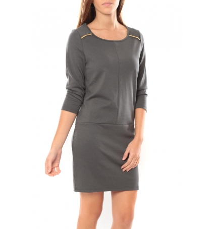 Vero Moda Greg 3/4 Short Dress 10098979 Anthracite