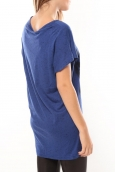 Vero Moda Gallery ss long Top Bleu/Noir