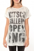 Vero Moda Gallery ss long Top 10098464 Blanc/Noir