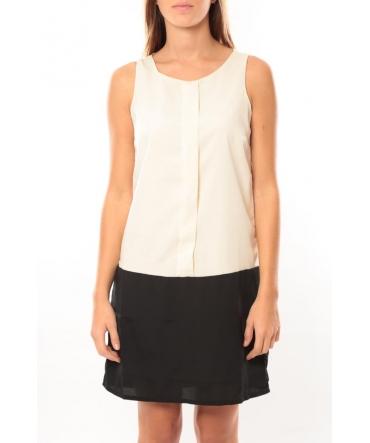 Vero Moda Neje sl Short Dress 10100937 Blanc/Noir