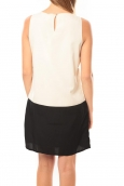 Vero Moda Neje sl Short Dress 10100937 Blanc/Noir
