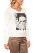 Sweet Company Tee shirt I Love LFM Blanc