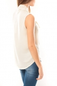 Vero Moda Heston S/L Bow Top 10099278 Écru