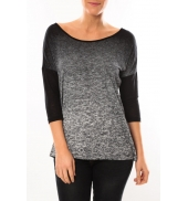 Vero Moda Graing 3/4 Long Top 10104538 Noir/Gris