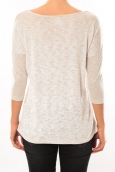 Vero Moda Graing 3/4 Long Top 10104538 Blanc/Beige