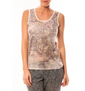 Vero Moda Map SL TOP 10105858 Blanc