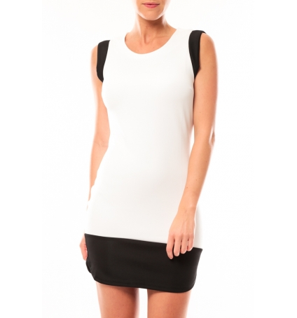 Vero Moda Signe S/L Mini Dress 10111107 Blanc/Noir