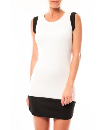 Vero Moda Signe S/L Mini Dress 10111107 Noir/Blanc