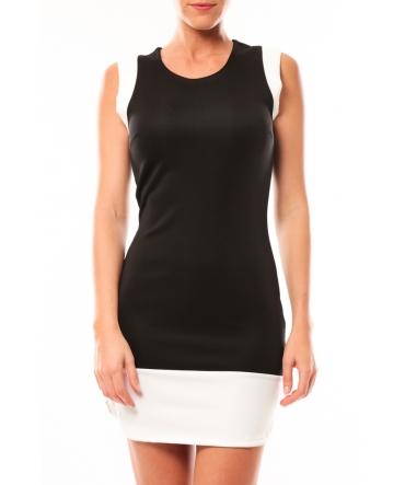 Vero Moda Signe S/L Mini Dress 10111107 Blanc/Noir