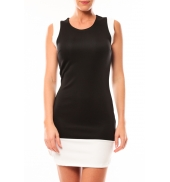 Vero Moda Signe S/L Mini Dress 10111107 Noir/blanc