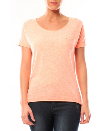 By La Vitrine Tee shirt S13090 Corail - 1 acheté = 1 offert
