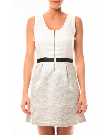 Vero Moda Nella S/L Short Dress 10107365 Blanc/Beige