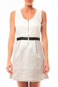 Vero Moda Nella S/L Short Dress 10107365 Blanc/Beige