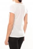 Lulu Castagnette T-shirt Happy Blanc